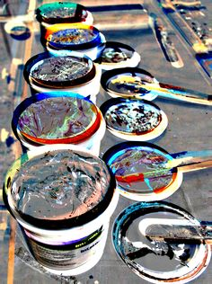 Ink pots at the Global Thread.