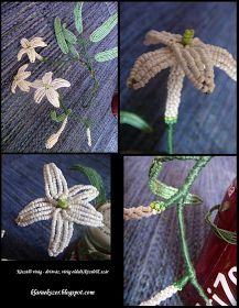 Tutorial:      http://klaraekszer.blogspot.com/2011/07/gyongybol-viragot-1.html   Készítette:   Klári     (Itt a további bejegyzések...