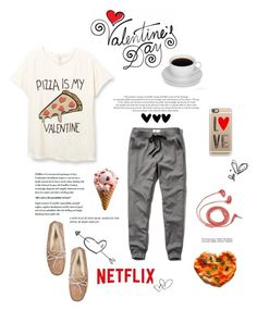 """""""Happy Valentine's Day"""" by amazing-abby ❤ liked on Polyvore featuring moda, Abercrombie & Fitch, UGG Australia, Casetify, FOSSIL, women's clothing, women, female, woman y misses"""
