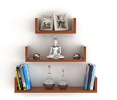 Multifunctional caesar shelves from can be used as display shelves in living/dining/offices, utility rack in kitchen or as bookshelf Made of premium high grade thick prelam mdf wood with natural wood grain finish Dimensions: large x 5 x inches Wall, Wood, Wood Wall Decor, Engineered Wood, Floating Shelves, Wall Decor, Wall Display, Wall Shelves, Home Decor