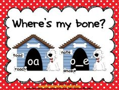 Help the dog find his bones!! This activity is a long o word sort. It has students working with words with the vowel patterns of oa and o__e. Stude...
