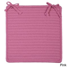 Colonial Mills Solid Polyester Chair Pads (Set of 4) (Pink)