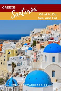 Things to do when you visit Santorini Greece. Santorini places to visit include the Anastasi Church. Best sunset spots in Santorini. Where to eat in Santorini. #santorini #greece #europe #travel
