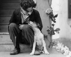 Charlie Chaplin and Scraps on the set of a Dog's Life 1918  - Living with Dogs
