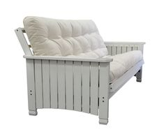 Charleston White Full Futon Frame by Gold Bond. Charleston hardwood futon from Gold bond is a unique offer with price and quality. This white finished wood futon rack provides excellent support and durability. Mattress Frame, Futon Frame, Futon Mattress, Mattress Sets, Mattress Covers, Queen Size Futon, Full Size Futon, Upcycling