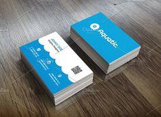 Aquatic Business Card Template Templates Aquatic business card template, is professional , clean and creative business card template , with 3 by Suave Digital
