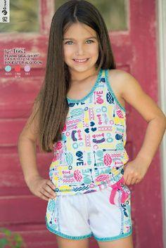 Pijama sisa short Ref: 1663 Tallas: 2, 4, 6, 8, 12,14,16 Colores: menta, lila, coral neón