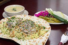Traditional Mansaf served on flatbread.jpg