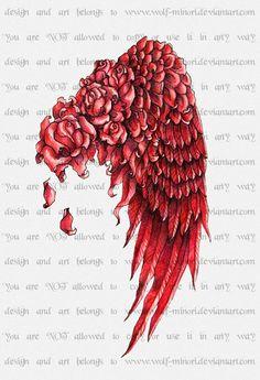 rose angel wings . . . like!