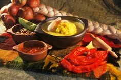 Ecuador is known for their exotic fruits, vegetables and seafood. The most popular sauce is the aji sauce which is a hot sauce used on many dishes.