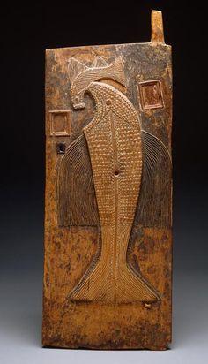 Africa | Door. Baule peoples, Ivory Coast | Wood, metal and fiber | ca. 19th to early 20th century.