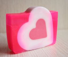 Santa Valentine's Pink and White Heart by NaturalBeautyLine