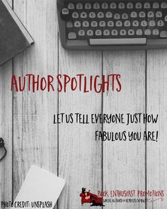 Author Spotlight Events     You know how sometimes you really want to tell everyone how generallyfabulous you are, but you really don't want to ... Debrahttp://bookenthusiastpromotions.com/services/author-spotlight-event/ ,  author spotlight