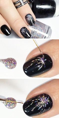 Sparkly nail art tutorial. Sparkly Nails, Art Tutorials, Nail Art, Bling Nails, Nail Arts, Art Lessons, Shiny Nails, Drawing Tutorials