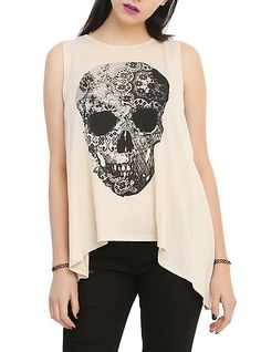 Skull Lace Tank Top ~ Hot Topic