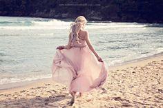 by eleonora sebastiani | #pink #romantic #beach #sun #summer #sea #dress #mood #happiness #fashion