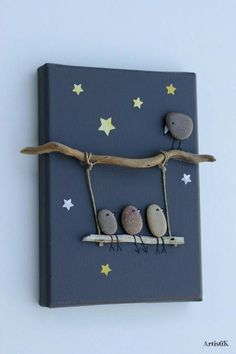 nature crafts for kids ; easy nature crafts for kids ; nature crafts for kids preschool ; nature crafts for kids summer ; nature arts and crafts for kids Kids Crafts, Easy Crafts To Make, Diy And Crafts, Arts And Crafts, Modern Crafts, Twig Crafts, Family Crafts, Crafts To Sell, Stone Crafts
