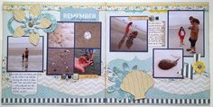 Beach layout by Gail Owens for @kiwilane using Kiwi Lane Designs templates and paper by My Mind's Eye