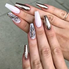 Sweet Glitter Accent Nail Designs #nudenails #smokenails #glitternails ❤️ You have to see these coffin nail designs for inspiration if you are looking for a fresh design for them. Check out our trendy ideas for coffin nails and get inspired. ❤️ See more: https://naildesignsjournal.com/coffin-nail-designs/ #naildesignsjournal #nails #nailart #naildesigns #coffinnails #longcoffinnails #longacrylicnails #acrylicnails #coffinnailsshape #longnails