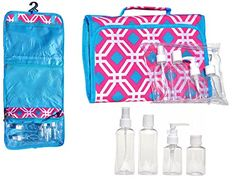 Best Hanging Travel Makeup Toiletries Cosmetic Bag Case Organizer 4 Pack Travel Size Bottle Set Unique Last Minute Stocking Stuffer Christmas Gift Women Teen Girls Wife Her 2015 >> See this awesome image : Christmas Luggage and Travel Gear Christmas Gifts For Women, Gifts For Teens, Travel Packing, Travel Luggage, Travel Size Bottles, Best Travel Accessories, Teen Girl Gifts, Travel Toiletries, Travel Makeup