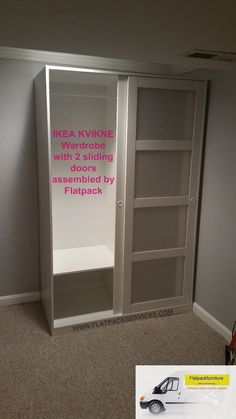 KVIKNE Wardrobe with 2 sliding doors, white | Home Theatre ...