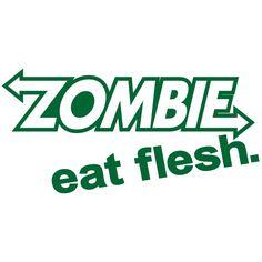 Zombie Eat Flesh Sticker Car Truck Decal Vinyl Window Laptop Skateboard Funny Walking Dead