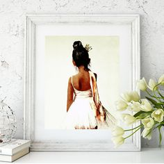 #AfricanAmerican #BlackBallerina #LittleBallerina Sweet Ballerina Watercolor Art Print African American Ballet