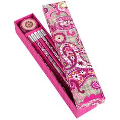 "Vera Bradley Pencil Box Set "" Back to School"""