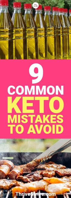 We are never perfect. Everyone makes mistakes, especially starting a new diet like the ketogenic diet. Here are 9 common keto mistakes and how you can avoid them.