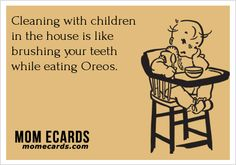 Cleaning with children in the house - #Cleaning, #Kids, #Mom