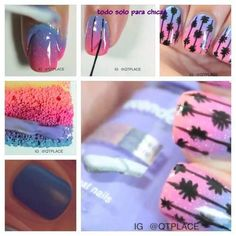 Find images and videos about pink, nails and color on We Heart It - the app to get lost in what you love. Nail Tips, Pedi, Nail Care, We Heart It, Nails, Makeup, Palm Trees, Tropical, Ideas
