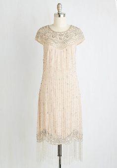 1920s white ivory beaded flapper dress. I Bead Your Love Dress $269.99 AT vintagedancer.com