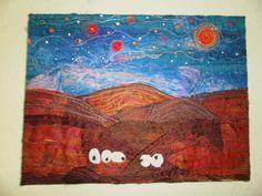 Textile Art. Sheep Fibre Art. by wendieshouse on Etsy