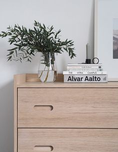 Nordic-inspired chest of drawers. A simple guest bedroom update with Heal's Morten collection