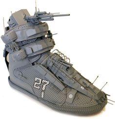Warship Shoe. Battleship meets high-top. #sneaker #shoe #battleship