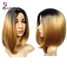 ombre synthetic wigs cheap short blonde wigs synthetic sexy female short haircut wigs Nice natural looking women wigs cosplay-in Synthetic Wigs from Health & Beauty on Aliexpress.com | Alibaba Group