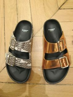 Birkenstock-inspired Givenchy slip ons #shoes