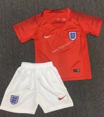 2018 World Cup England Away Red Kid Youth Soccer Uniform Youth Football Jerseys Soccer Uniforms Kids Soccer