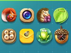 The Forest icons by yanerli, on dribbble