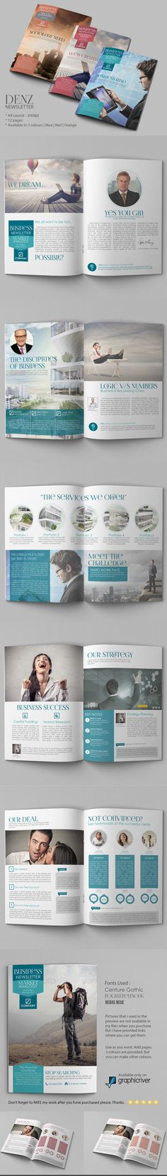 Business Newsletter Print templates, Template and Business - business newsletter