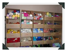 cheap yarn storage and organization