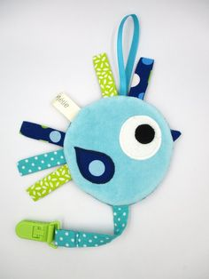 Plush bird pacifier blanket, minky fleece fabric, blue green, 24 cm in height, toys Fabric Tissu Minky, Minky Fabric, Diper Bags, Baby Toys, Etsy Seller, Plush, Christmas Ornaments, Holiday Decor, Handmade