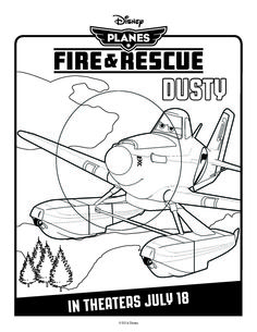 Disney's Planes: Fire & Rescue Coloring Pages | Spoonful