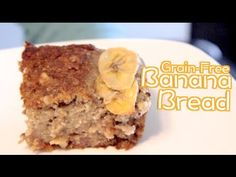 Grain-Free Banana Bread | Rule of Yum recipe   I like the way he put the banana on top of the batter before baking, will have to try that