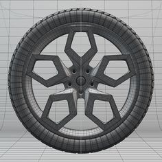 Car Wheel and Rim - 3D on Behance