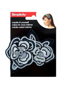 Embroidered Sequin Flower Headband Accent (Available in a pack of 24)