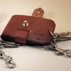 Leather keychain. Minimalist designed by Ludena.