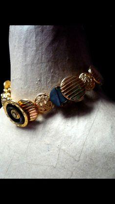 Botton necklace ..handmade LOCAS CREAZIONI