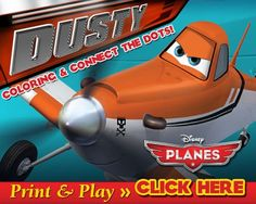 Printable coloring pages and activity sheets for the upcoming Disney Planes movie. Planes Movie, Planes Party, Disney Planes, Airplane Party, Printable Coloring Sheets, Free Coloring Sheets, Disney Coloring Pages, Coloring Book, Disney Diy