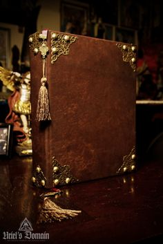 This book was hand-bound in goat skin and edge gilded in antique gold.
